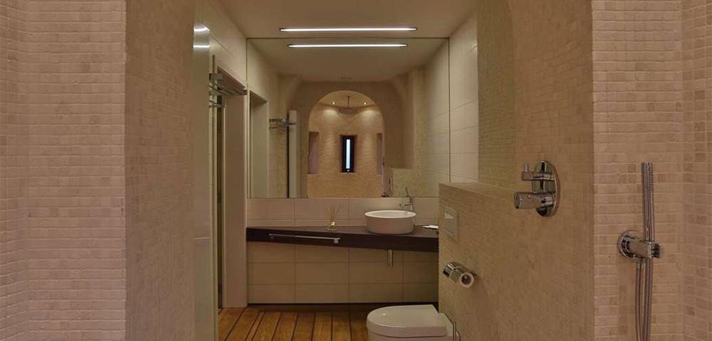 Salle de bain douche tropicale Hotel d'Arondeau